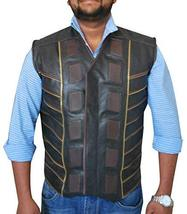 Dark Matter Three Anthony Lemke Black Leather Padded Vest image 1