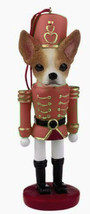 CHIHUAHUA TAN DOG CHRISTMAS ORNAMENT NUTCRACKER SOLDIER HOLIDAY 5 inch - $13.98