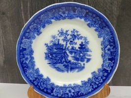 "Antique Circa 1890's Flow Blue Staffordshire SHANGHAI Plate 9.75"" - $17.82"