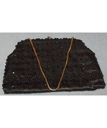 Ladies Black Beaded Evening Purse - $17.95