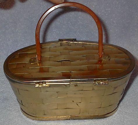 Metal  weave purse2