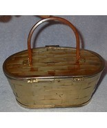 Vintage Retro Lucite and Metal Basket Weave Purse - $39.95