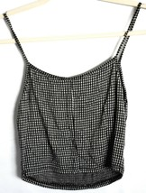 Forever 21 Check Gingham Plaid Cropped V-Neck Tank Top Size S image 2