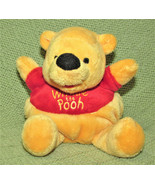 "DISNEY 6"" ROLY POLY BEANBAG WINNIE THE POOH RED SHIRT PLUSH STUFFED ANIM... - $11.88"