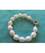 CULTURED RING PEARL BRACELET 7.5 INCH WHITE - $18.00