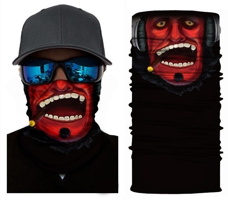 Crazy Cool Red Devil Winter Face Mask Bandanas Headband Multi Headwear Scarf