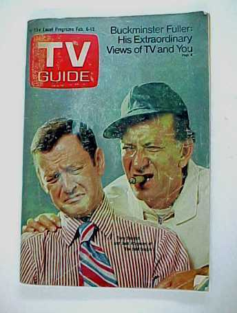 1971 TV Guide with The Odd Couple Stars Jack Klugman Felix Randall on Cover