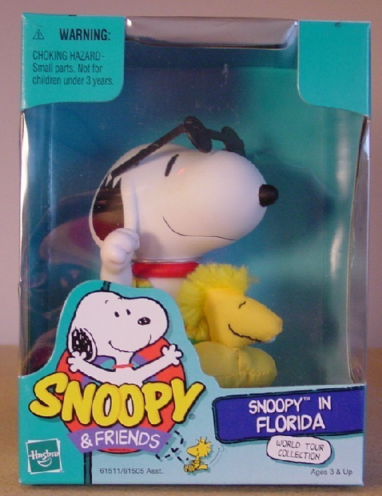 Peanuts Snoopy World Tour FLORIDA - Hasbro - New in Box