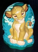 "Lion King Disney Figural 6"" Simba Peaceful in Jungle Garden Bank - $5.95"