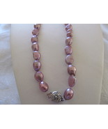 CULTURED RING BAROQUE PEARL LAVENDER NECKACES 17 inch - $12.00