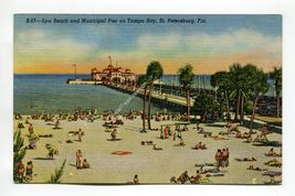 Spa Beach and Municipal Pier on Tampa Bay St Petersburg Florida - $0.99