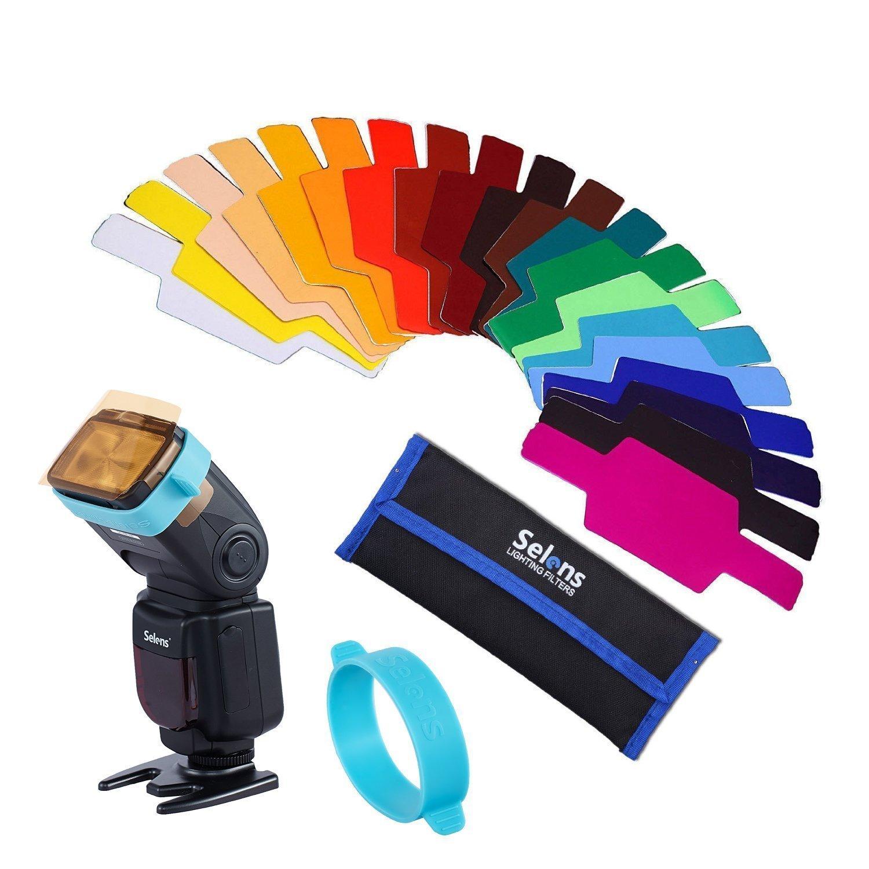Selens universal flash gels lighting filter se cg20   20 pcs combination kits  5