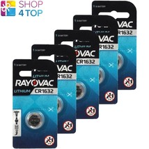 5 Rayovac CR1632 Lithium Battery 3V Cell Coin Button Watch Exp 2026 125mAh New - $8.11