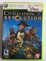 Sid Meier's Civilization Revolution (Microsoft Xbox 360, 2008) - $12.86