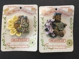 Boyds Bears Bearwear Lot Of 2 Pins Rabbit Bear E32 - $8.79