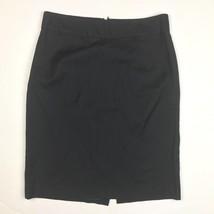 J Crew Classic Light Pencil Skirt Straight Black size 4 Wool - $22.94