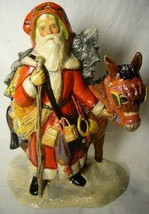 Vaillancourt Folk Art Father Christmas on a donkey  signed. by Judi! Last one! image 1