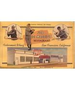 new york yankee joe dimaggio's grotto restaurant baseball postcard rare ... - $59.99
