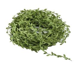 Artificial Vines Green Vine Ribbon Leaf Trim Leaf Ribbon Garland Decoration Wood - $15.99