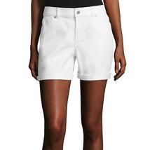 Liz Claiborne Roll-Cuff White Shorts Size 18 New Msrp $42.00 - $14.99