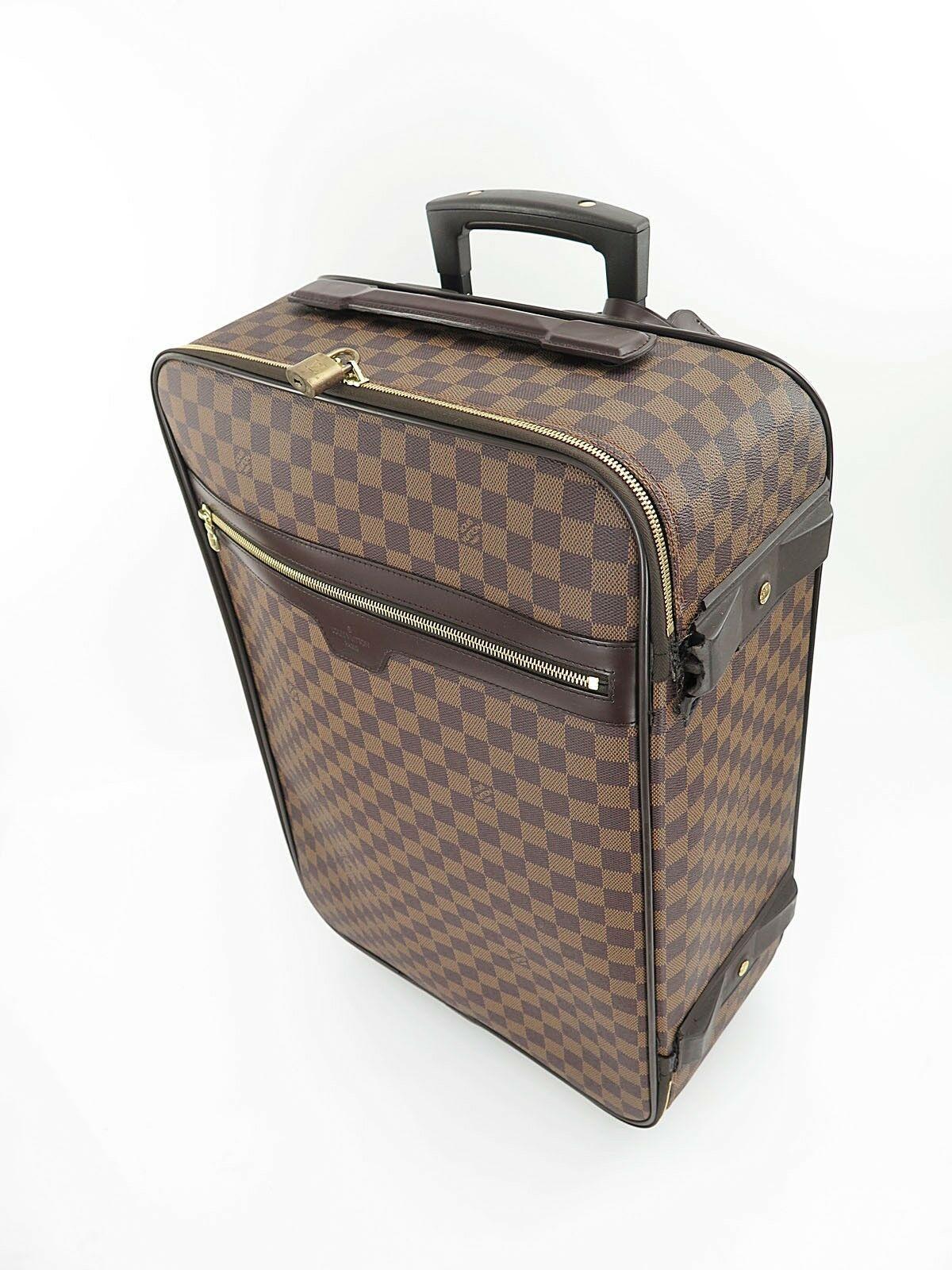 Authentic LOUIS VUITTON Pegase 55 Damier Ebene Travel Rolling Suitcase #26312
