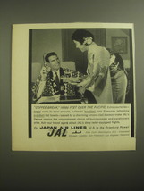 1959 JAL Japan Air Lines Ad - Coffee-Break, 18,000 feet over the pacific - $14.99