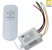 Remote Control Switch 3 Port ON/OFF 220V Lamp Light Digital Wireless Wall - $9.68+