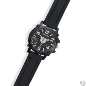 Men's Montres Carlo Fashion Watch w/ Rubber Band