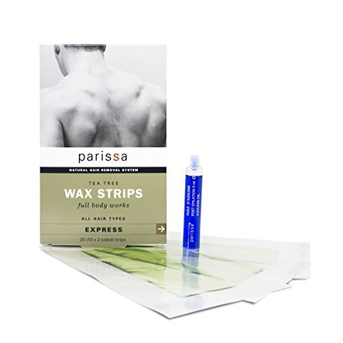 Parissa Men's Wax Strips, Waxing Strips Kit for Easy Male Body Hair Removal with