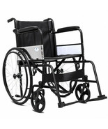 24 Inch Medical Wheelchair Lightweight Foldable with Adjustable Footrest... - $171.26