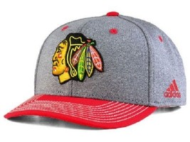 Chicago Blackhawks NHL adidas Heather Line Change Snapback Hat - $18.76