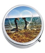 Beach Ocean Hair Flip Bff Medicine Vitamin Compact Pill Box - $9.78