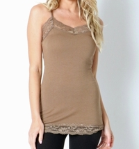 Lace Camisole Top, Lace Camisoles, Lace Trim Camisole, Camisole Tops, Brown
