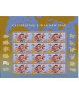 YEAR OF THE DRAGON JAN 23 2012  S/SHEET - USA MINT FOREVER Stamps - $14.95