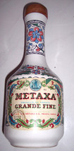 Vintage Keramikos Greek  Metaxa Ceramic  Collectible Handpainted Decante... - $43.00