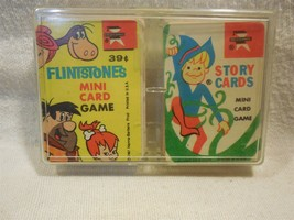 Flintstones 1967 Ed-U-Cards Mini Card Game set in Plastic Holder - $9.95