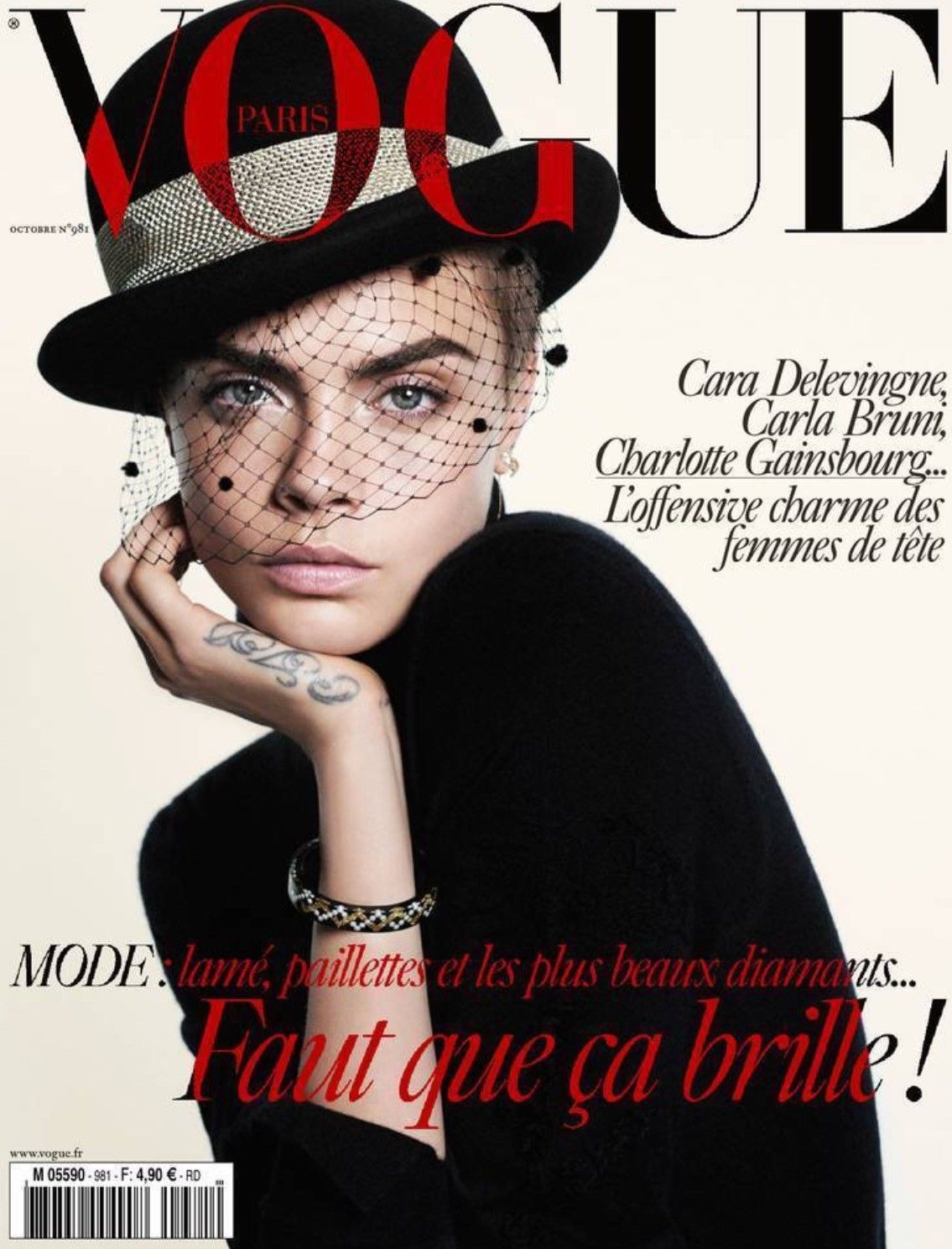 Primary image for FRENCH VOGUE PARIS #981 CARA DELEVINGNE October 2017 NEW