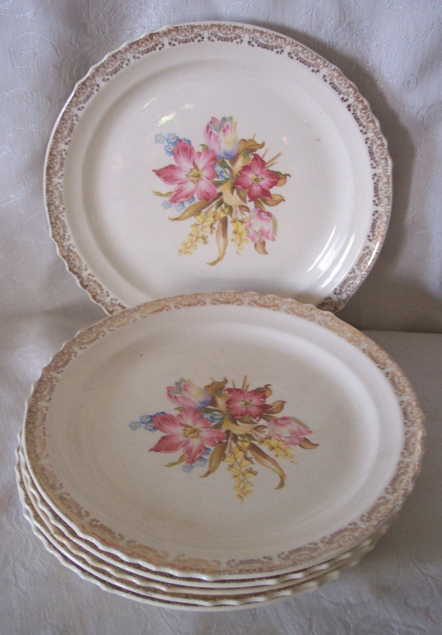 French Saxon Dinner Plates Daylily Center And 50 Similar Items & Charming French Saxon China Pictures - Best Image Engine - maxledpro.com