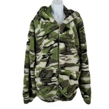 Love Love Love Camouflage Fleece Hooded Long Sleeve Jacket Womens 2X - $25.51