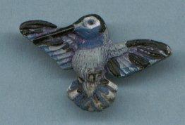 MINIATURE CERAMIC HUMMINGBIRD BEAD