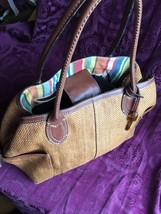 Vintage Fossil 1954 Genuine Classic Wicker / Leather Tote Bag, EUC - $53.90