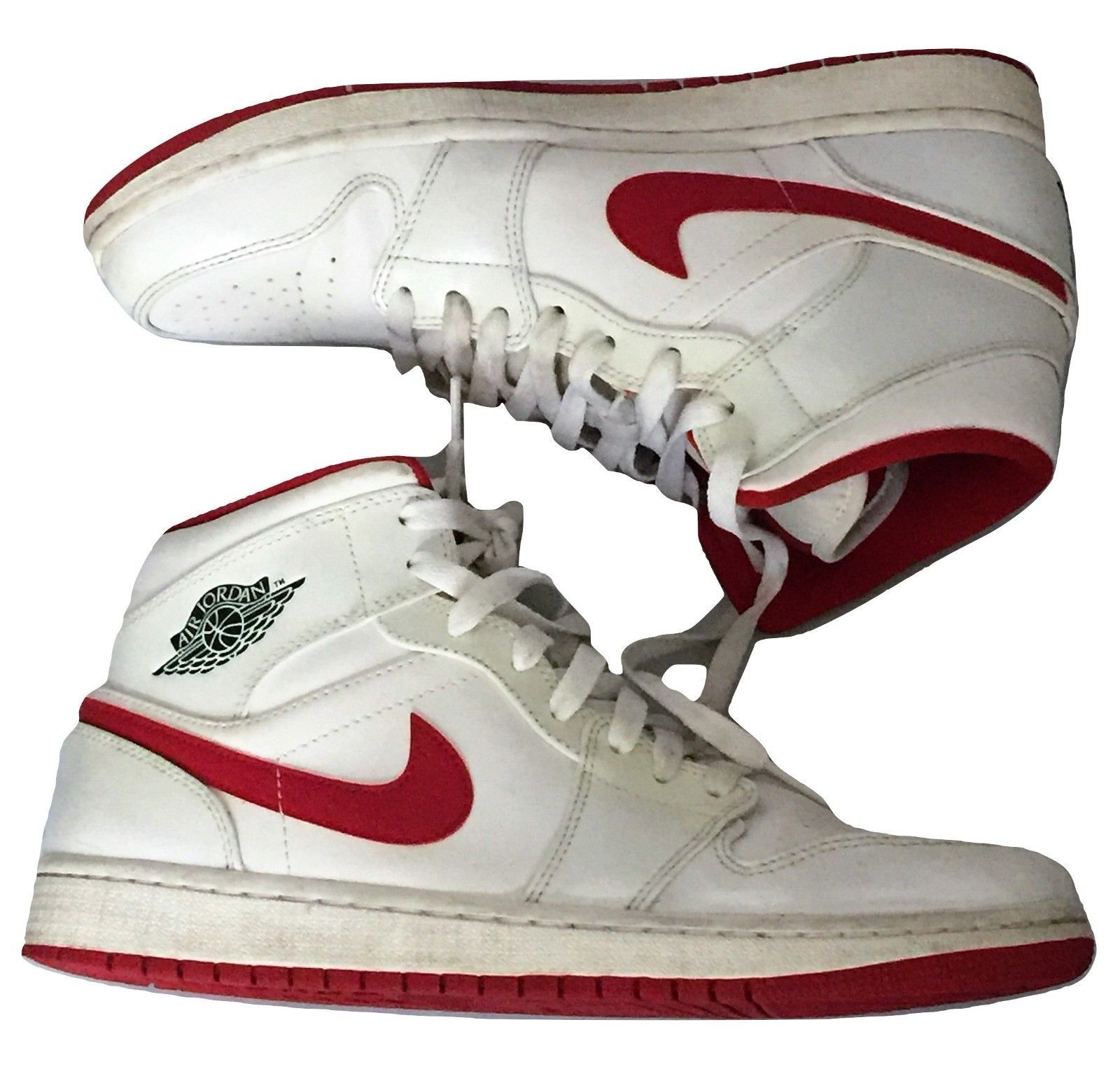 baa60e98e14e Air Jordan 1 Mid White Gym Red 554724 101 and 50 similar items