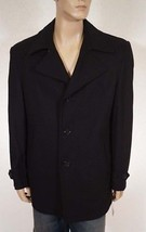 Michael Kors MM15164DR Men's Black Wool Insulated Car Coat Jacket Large L - $95.99