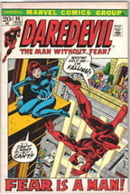 Daredevil Comic Book #90, Marvel Comics 1972 VERY FINE- - $11.64