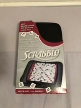 Scrabble Deluxe Edition Travel Black Faux Leather Case 2011 Open Box - $75.99