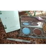 Mally Evercolor MODERN MATTE EYESHADOW Duo EARTH Brown & Sky Blue + BRUS... - $10.29