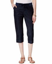 6143 Lee Platinum Women's Black Denim Rinse Wash Capri Pants Size 4M $56 - $13.88