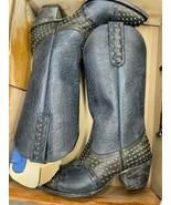 Old Gringo Downtown Boots, Black/Blue Size 8.5, YPK82 - $220.00