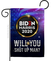 Will you Shut Up Man - Impressions Decorative Garden Flag G170152-BO - $19.97