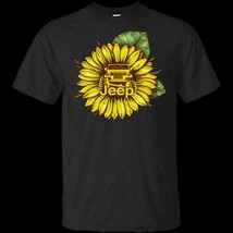 Sunflower Jeep Ver3 G200 Black Cotton T-Shirt Men - $12.99